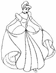 Princess Cinderella Color Pages Printable Disney