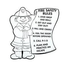 Fire Safety Coloring Pages For Preschoolers Cellarpaperco