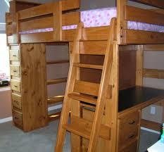 bunk u0026 loft factory twin loft bed desk shelves sturdy