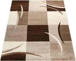 teppich 665 paco home rechteckig höhe 17 mm 3d design kurzflor mit karo muster wohnzimmer kundenliebling mit 5 sterne bewertung