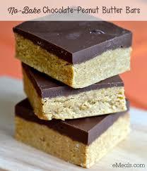 easy no bake dessert recipes easy no bake chocolate peanut butter bars the emeals