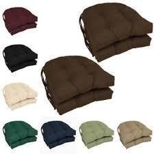 Blazing Needles U Shaped Twill 16 Inch Dining Chair Cushions Set Of 4