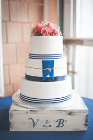More Beautiful Flowers Like This Navy Blue and White Nautical Themed Wedding Cake