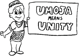 Kwanzaa Coloring Pages Means Unity Page Candles Mat