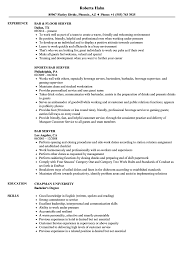 Download Bar Server Resume Sample As Image File