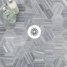 Faux Marble Hexagon Floor Tile by Interior Hexagon Tile To Adds Perfect Your Kitchen And Bathroom