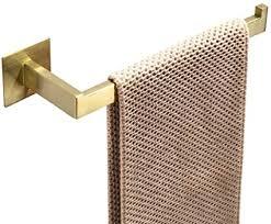 womao handtuchhalter 30 cm gold ohne bohren selbstklebend handtuchring gebürstet edelstahl duschwand badezimmer küche zum kleben kurze handtuchstange