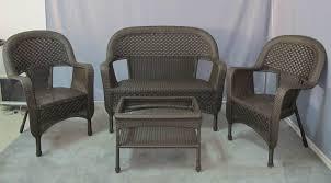 Opulent Design Outdoor Wicker Furniture Set Charleston 6 Piece All