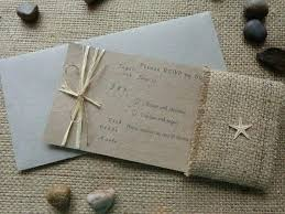 Rustic Beach Wedding Invitations Invitation Set Postcard Wording