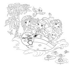 Download Coloring Pages Lego Friends Rubber Boat Page For Girls Printable