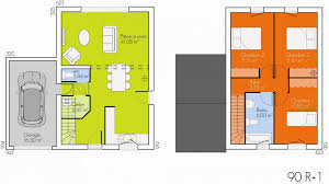plan maison 90m2 plain pied 3 chambres beau plan maison de plain pied 4 chambres 11 plan maison etage
