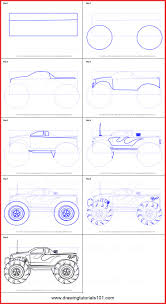 How To Draw A Monster Truck 83368 How To Draw A Monster Truck ...