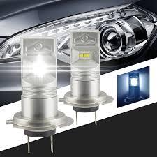 2x car styling 6000 6500k 80w 1600 lumens lumileds luxeon 6 csp h7