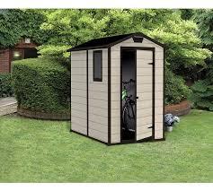 buy keter manor plastic beige brown garden shed 4 x 6ft at