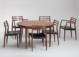 tisch modell nr 15 mit sechs stühlen modell nr 78 und 629