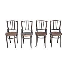 chaises thonet set of 4 thonet chairs in wood 1930s design market