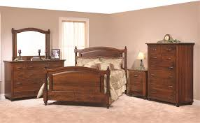 Amish Sunbury Bedroom Set In Rustic Cherry