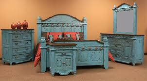 Corona Antique Turquoise Bedroom Set