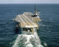 Uss America Sinking Photos by Navy Decommissioned Carrier Independence Leaves For Texas