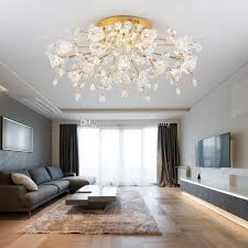 großhandel modernes wohnzimmer kristallle deckenleuchten warme romantische blume hochzeitsraum schlafzimmer lensaum speisesaal