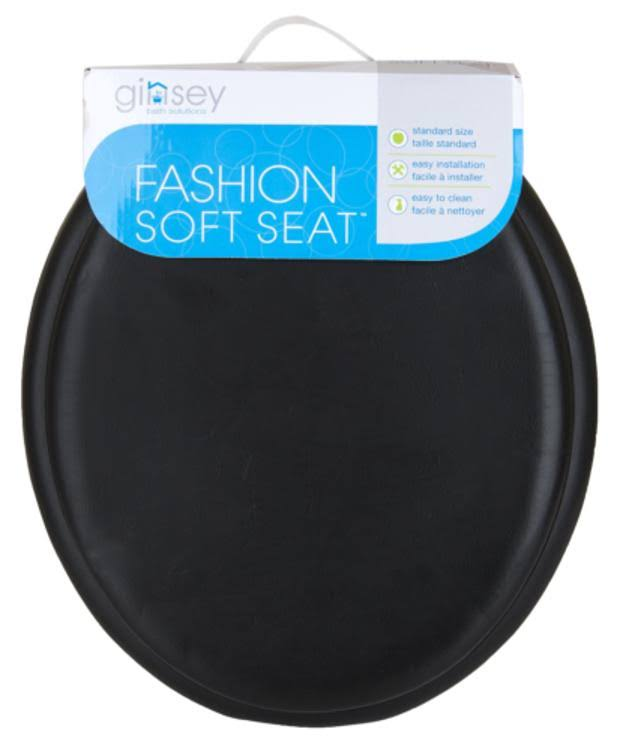 Ginsey Black Soft Toilet Seat