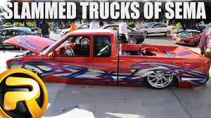 Lowered Trucks Of SEMA 2014 - YouTube