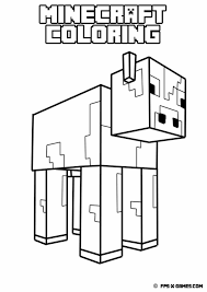 Minecraft Wolf Coloring Pages