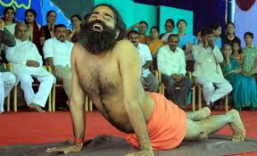 Yoga Guru Ramdev Performs During Adamya Chetana Mahotsav At National High School Basavangudi In