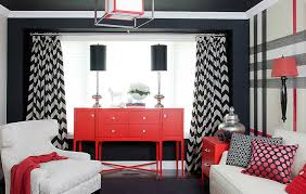 Black Red And Gray Living Room Ideas by Interior Design Gorgeous Chevron Curtains For Home Decoration