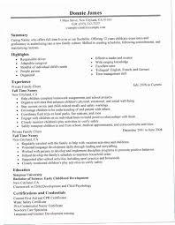 Babysitter Job Description Resume CRXH Nanny Sample