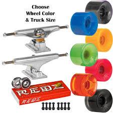 100 Skateboard Truck Sizes Independent S OJ Mini Juice 55mm SKATEBOARD Wheels KIT Bones