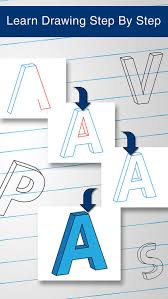 How to Draw 3D Alphabet Letters by Chirag Pipaliya