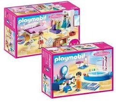 details zu playmobil dollhouse puppenhaus set 70208 schlafzimmer 70211 badezimmer