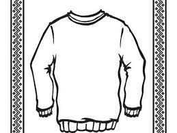 Free Coloring Pages Of Sweater Page Ugly Cardigan