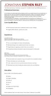 Cv Job Sample For A Summer