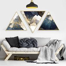 dreieckige poster wand kunst leinwand gerahmte bilder durch zahlen abstrakte wohnzimmer schlafzimmer gerahmte spiegel gemälde