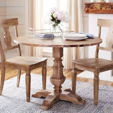 bradding natural stonewash round dining tables pier 1 imports