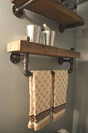 Bathroom Shelf With Towel Bar Wood by Best 25 Bathroom Shelves Ideas On Pinterest Half Bathroom Decor