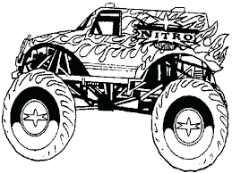 Monster Truck Coloring Pages Pdf Drawing With Kids Free Printable ...