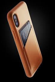 Premium Quality Leather Wallet Case for iPhone X in Tan