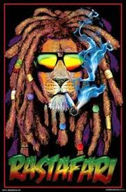 Rastafari Lion Blacklight Poster