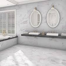 somertile 12 875x25 625 inch marmol carrara porcelain floor and