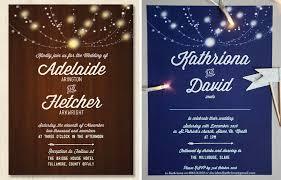 Rustic Lights Wedding Invitations Customising