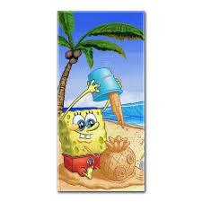 Spongebob Squarepants Bathroom Decor by Amazon Com Spongebob Squarepants Sand Castle Beach Towel Home