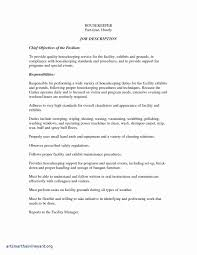 Hotel Housekeeping Resume Sample Fresh Housekeeping Resume ...