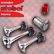 STEBEL TRIPLE AIR HORN CHROME TRUMPET NEW FOR CAR TRUCK 12 VOLT RED ... 5x Black Trumpet Musical Dixie Car Duke Of Hazzar Compressor 12v 150db Super Loud Triple Air Horn Horns Truck Train Boat Longest Semi Driver Blows Air Horns 4 Video Youtube Big Mikes Motor Pool Military Truck Parts M35a2 Hornblasters Install Truckin Magazine 12 24v 150db Electric For Volvo Scania Superin Auto Accsories Headlight Bulbs Gifts Single China Powerful Speaker Snail Installing On Your Kit Tips Demo Of 24volt Stebel Nautilus Compact 300hz New Relay Gm Systems Kleinn Pair 2 Big Rig Viair 150psi Kit Sale