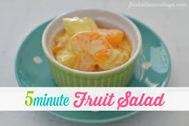 fast and easy 5 minute fruit salad recipe fox hollow cottage
