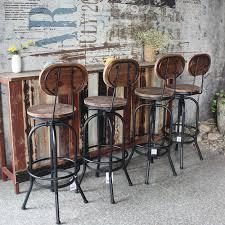 ikayaa industrial style bar hocker höhe verstellbare swivel küche esszimmer stuhl pinewood top metall mit rückenlehne