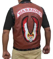 warriors vest vintage bikers brown leather vest at amazon men u0027s