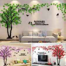 details zu acryl pflanze 3d riesiger baum wand baum diy wandtattoo wandaufkleber wohnzimmer